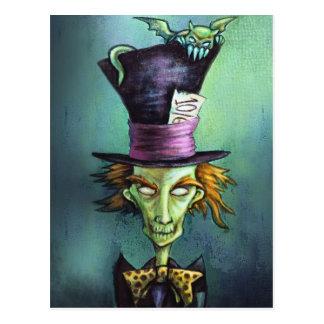 Cartão Postal Hatter louco escuro de Alice no país das