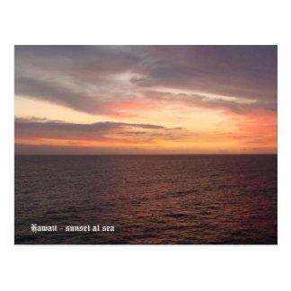 Cartão Postal Havaí 2008 (394), Havaí - por do sol no mar