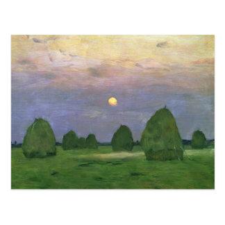 Cartão Postal Hayricks no crepúsculo, 1899