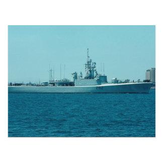"""Cartão Postal HCMS Saskatchewan"""", escolta de contratorpedeiro do"""