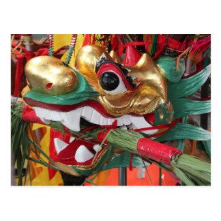 Cartão Postal Headpiece do barco do dragão