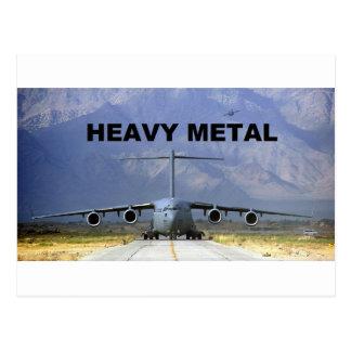 Cartão Postal heavy metal plano