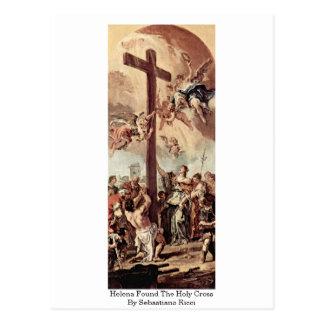 Cartão Postal Helena encontrou a cruz santamente por Sebastiano