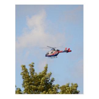 Cartão Postal Helicóptero dos meios