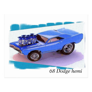 Cartão Postal Hemi de 68 Dodge
