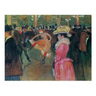 Cartão Postal Henri de - Lautrec- no vermelho, a dança