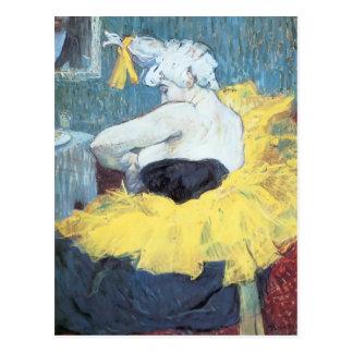 Cartão Postal Henri de Toulouse-Lautrec: O clownesse Cha u Kao