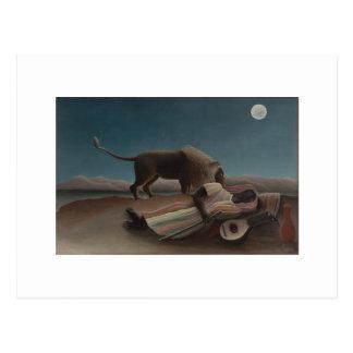 Cartão Postal Henri Rousseau - cigano de sono