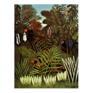 Cartão Postal Henri Rousseau - paisagem exótica