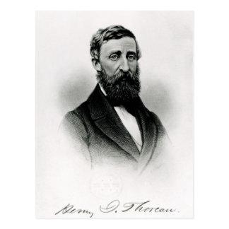 Cartão Postal Henry David Thoreau