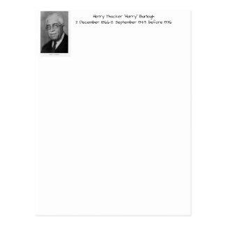 """Cartão Postal Henry Thacker """"Harry"""" Burleigh"""