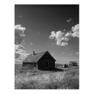 Cartão Postal herdade velha da pradaria em Saskatchewan Canadá