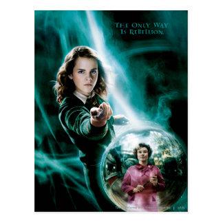 Cartão Postal Hermione Granger e professor Umbridge
