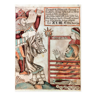 Cartão Postal Hermod montado em Sleipnir