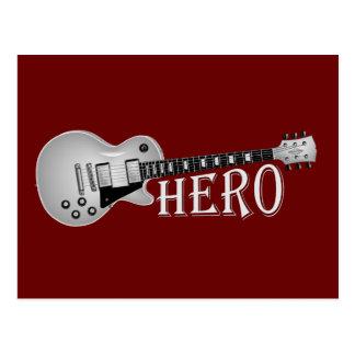 Cartão Postal Herói da guitarra elétrica