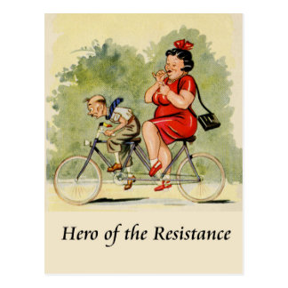 Cartão Postal Herói da resistência