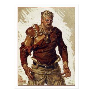 Cartão Postal Herói do futebol por Leyendecker