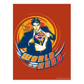 Cartão Postal Herói do mundo do superman