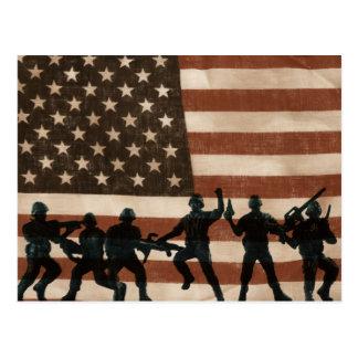 Cartão Postal Heróis americanos