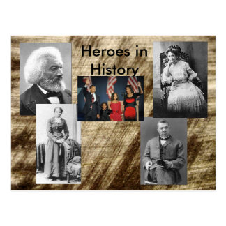 Cartão Postal Heróis na coleção da história - suceda