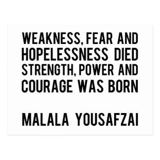 Cartão Postal HERÓIS REAIS - Malala Yousafzai