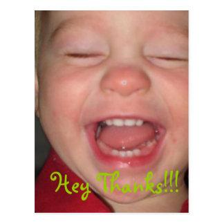 Cartão Postal Hey obrigados!!!