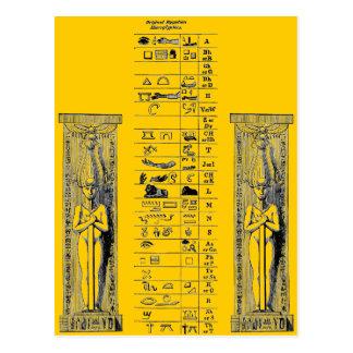 Cartão Postal Hieroglyphics egípcios