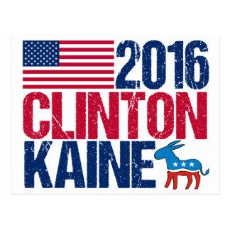 Cartão Postal Hillary Clinton 2016 Tim Kaine