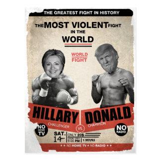 Cartão Postal Hillary Clinton engraçada contra a eleição de