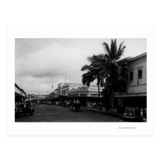 Cartão Postal Hilo, opinião PhotographHilo de HawaiiStreet, HI