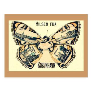 Cartão Postal Hilsen Fra Copenhaga - cumprimentos de Copenhaga