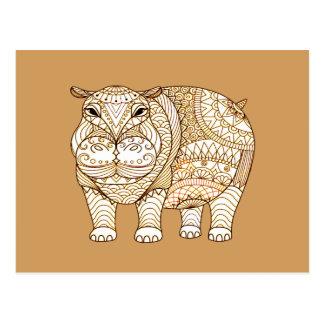 Cartão Postal Hipopótamo