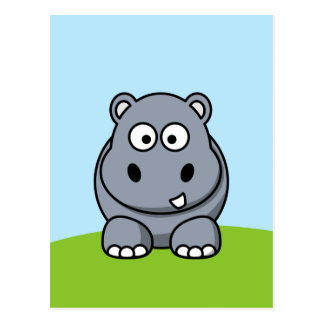 Cartão Postal Hipopótamo bonito