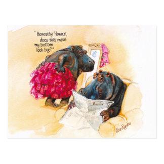 Cartão Postal Hipopótamo gordo