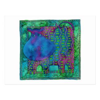 Cartão Postal Hipopótamo modelado