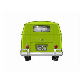 Cartão Postal Hippie 1962 Van