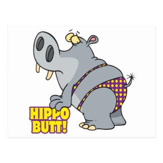 Cartão Postal hippopotamus do biquini do bumbum do hipopótamo