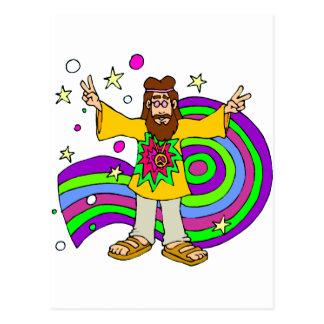 Cartão Postal Hippy dos anos sessenta