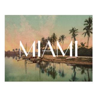 Cartão Postal Hipste do viagem do wanderlust da foto de Miami