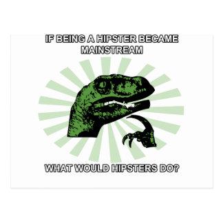 Cartão Postal Hipsteres de Philosoraptor