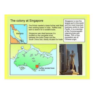 Cartão Postal História, colônia em Singapore