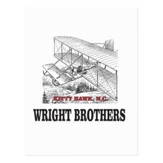 Cartão Postal história do irmão de wright