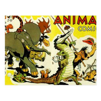 Cartão Postal História em quadrinhos animal