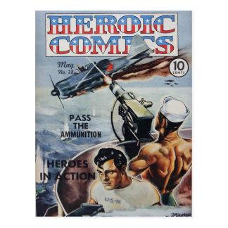 Cartão Postal História em quadrinhos heróico