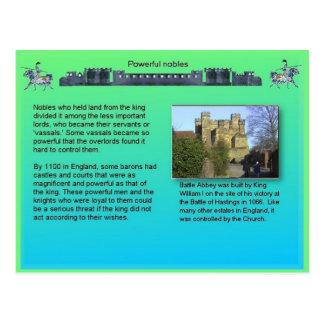 Cartão Postal História, Idade Média, nobres poderosos
