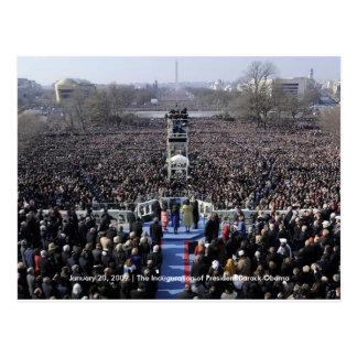 Cartão Postal HISTÓRIA: Multidão na inauguração de Obama