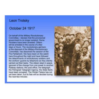 Cartão Postal História, revolução de russo, discurso 1917 de