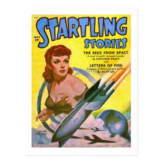 Cartão Postal Histórias sobressaltado cómicas de Sci Fi do