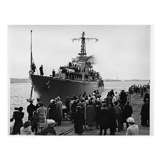 Cartão Postal HMCS Nootka que sae de Halifax para Coreia