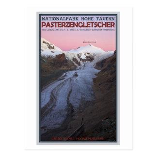 Cartão Postal Hohe Tauern - geleira de Pasterze